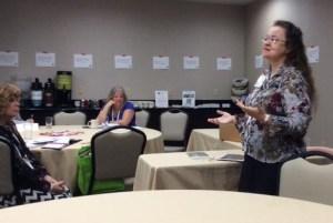 Teaching at PENCON. Photo by Chris Maselli.