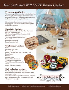 barber cookies one sheet back sales flyer advertising marketing graphic design