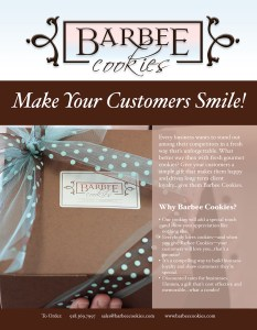 one sheet barbee cookies advertising marketing graphic design