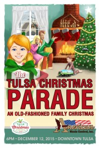 tulsa christmas parade poster digital painting layout design