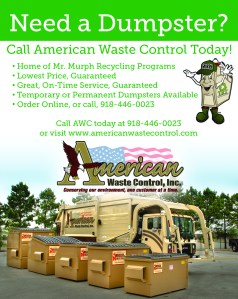 full page ad awc american waste control graphic design