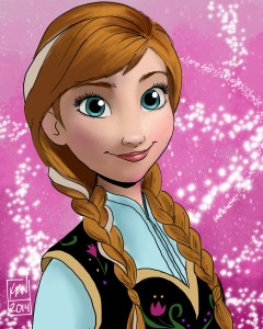 anna drawing frozen digital painting