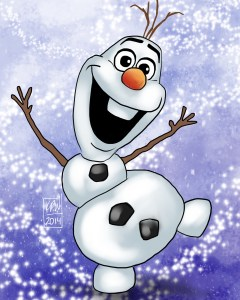 olaf snow snowman digital painting