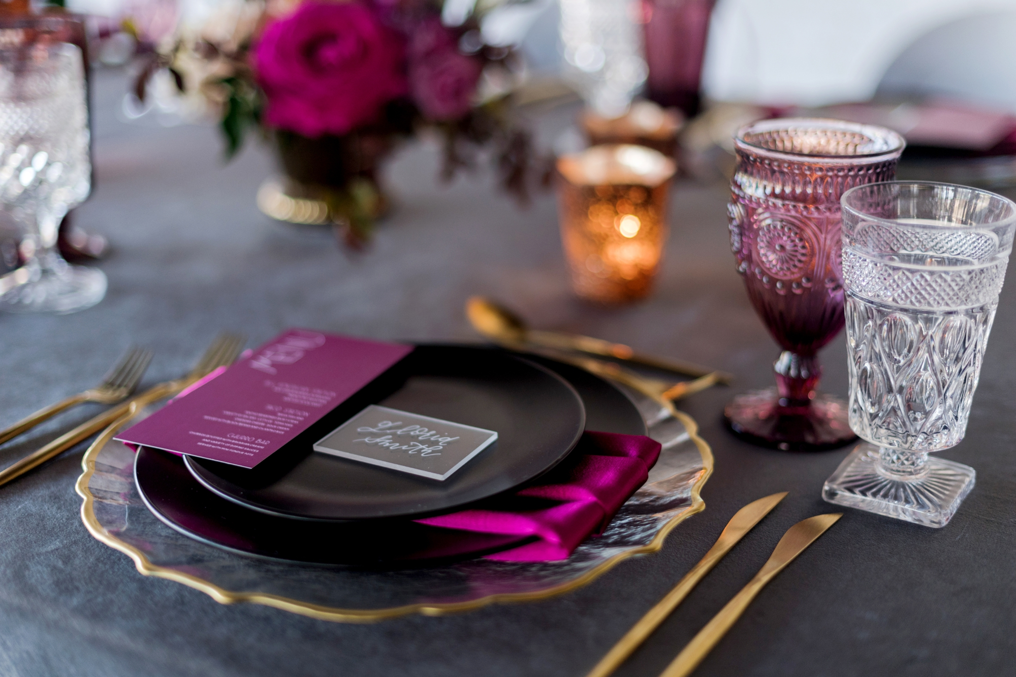 Amethyst And Protea Downtown Loft Wedding Inspiration