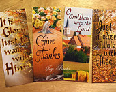 give thanks bookmarks