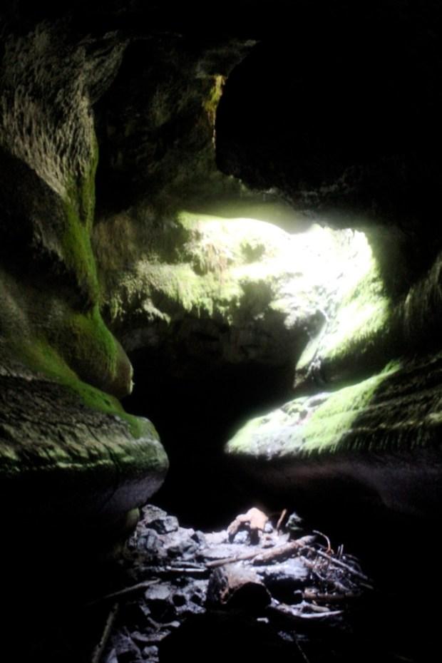 Ape Cave Skylight
