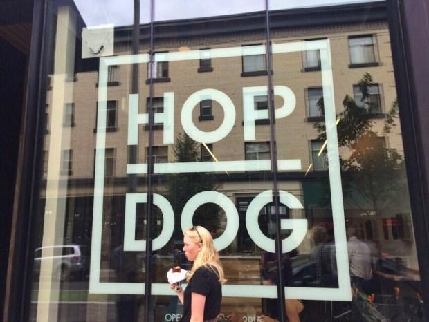 Hop Dog sign
