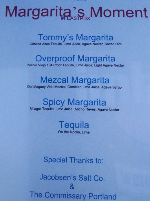 Drink tank margarita menu