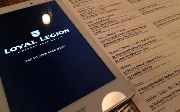 Loyal Legion tablet menu