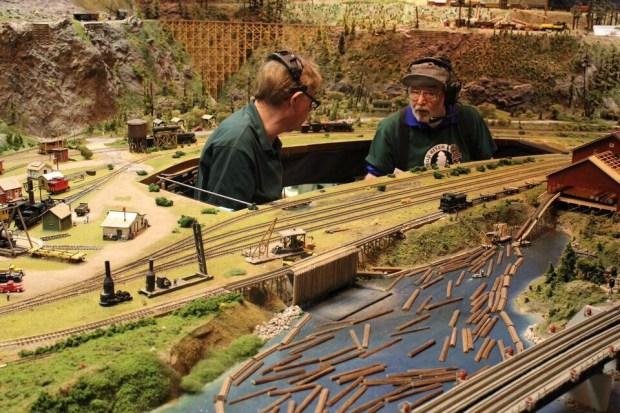 Model railroad lumber & operator