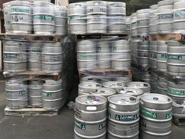 Backwoods Brewing kegs