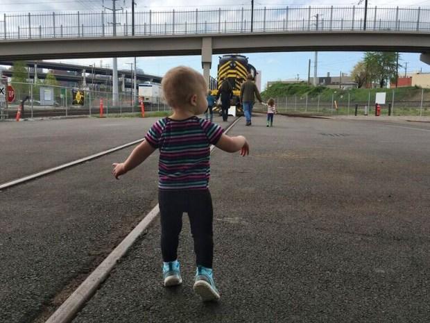 Oregon heritage rail toddler run