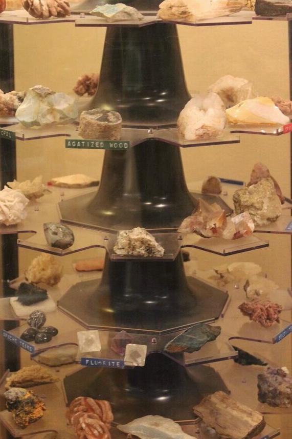 Hutson Museum rotating rocks