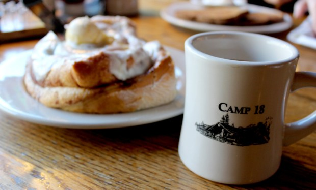 North Oregon Coast Camp 18 Cinnamon Roll Coffee