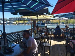 Island cafe deck