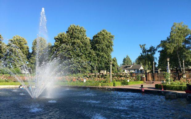 Peninsula Park Rose Garden fountain