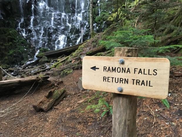 ramona-falls-return-trail-sign