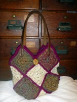 Granny Square Purse with Leather Straps