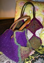 Side view of purses.