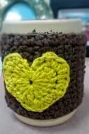 Crochet tea cup cozy - Front