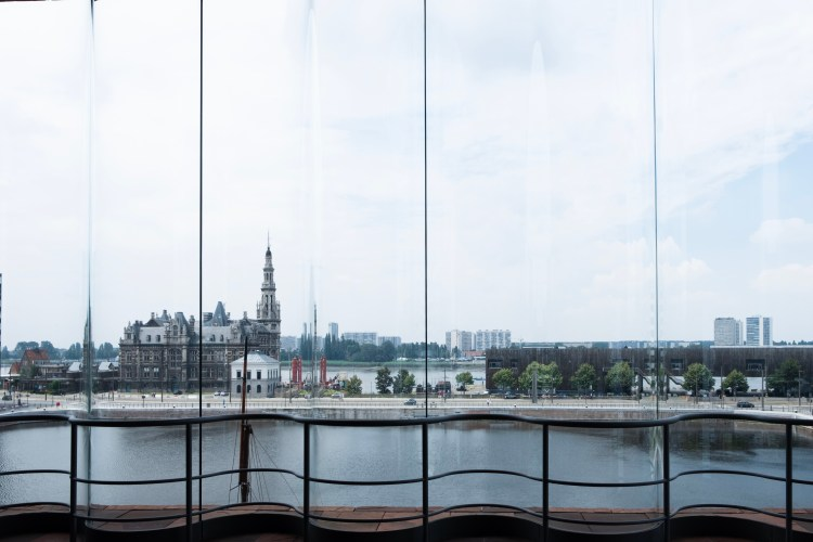 View on the Scheldt from inside the MAS
