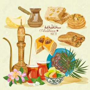 39096513-Arabic-Food-Traditional-eastern-cuisine--Stock-Vector