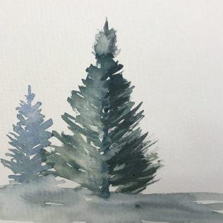 Wintery trees.