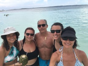 Thank goodness for the selfie stick! Family photo in CocoCay
