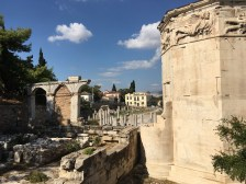The Roman Agora from the back, with the Tower of the Winds on the right.