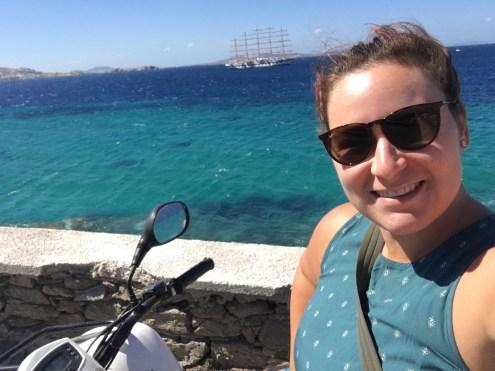 Selfie on the quad at port!