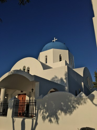 A beautiful church in Firostefani town.