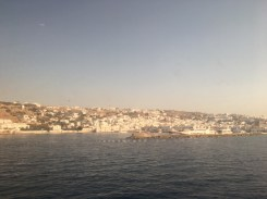 Mykonos from inside the ferry. I seriously thought about getting off there.