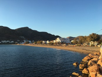 View of the beach from the port on day 1.