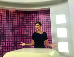 Kristina Guberman presenter in studio live tv