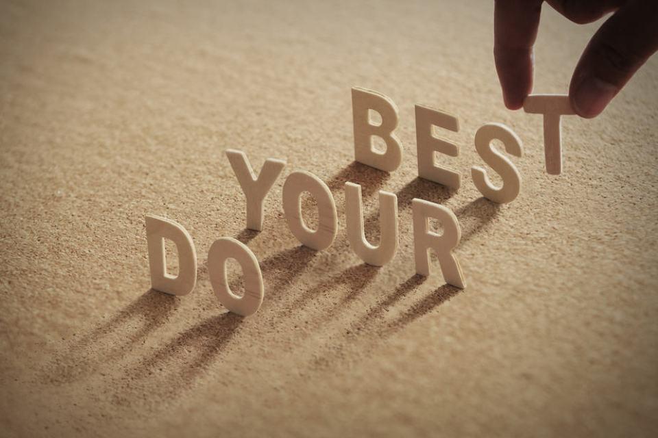 der Weg ist das Ziel, yes we can, du schaffst es, du kannst das, zufrieden sein