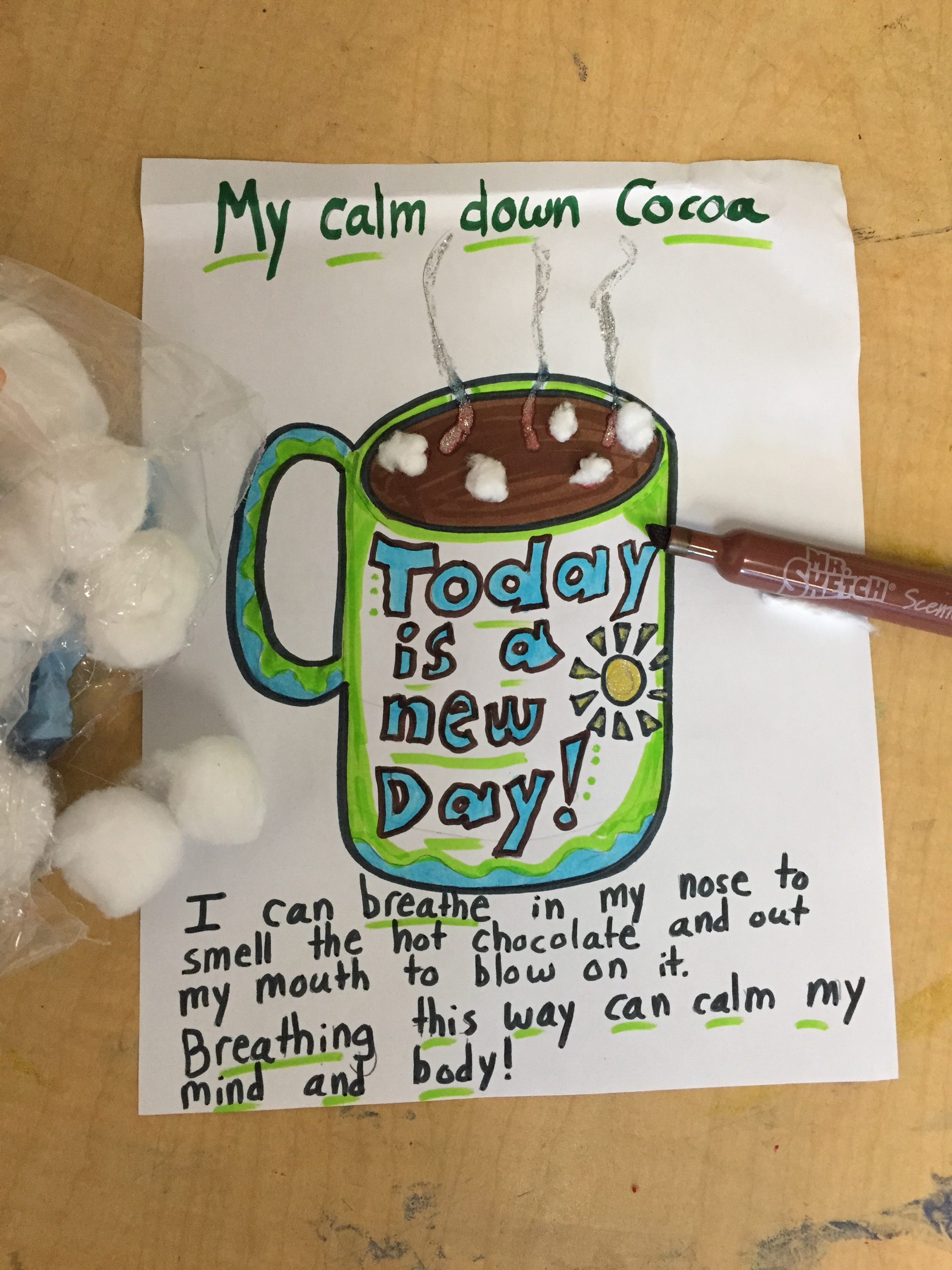 Hot Cocoa Breathing Sensory Art Activity Art Of Social Work