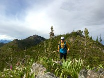 Training in the La Sportiva Hail Jacket and Crux Tight with the Ultimate Direction Adventure Vesta on Murphy Peak, Montana 2016