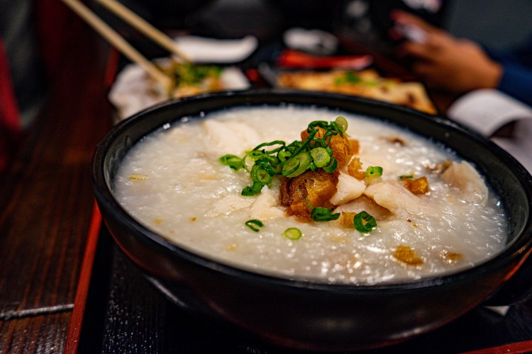 a bowl of congee   photo by Kristina Quinones
