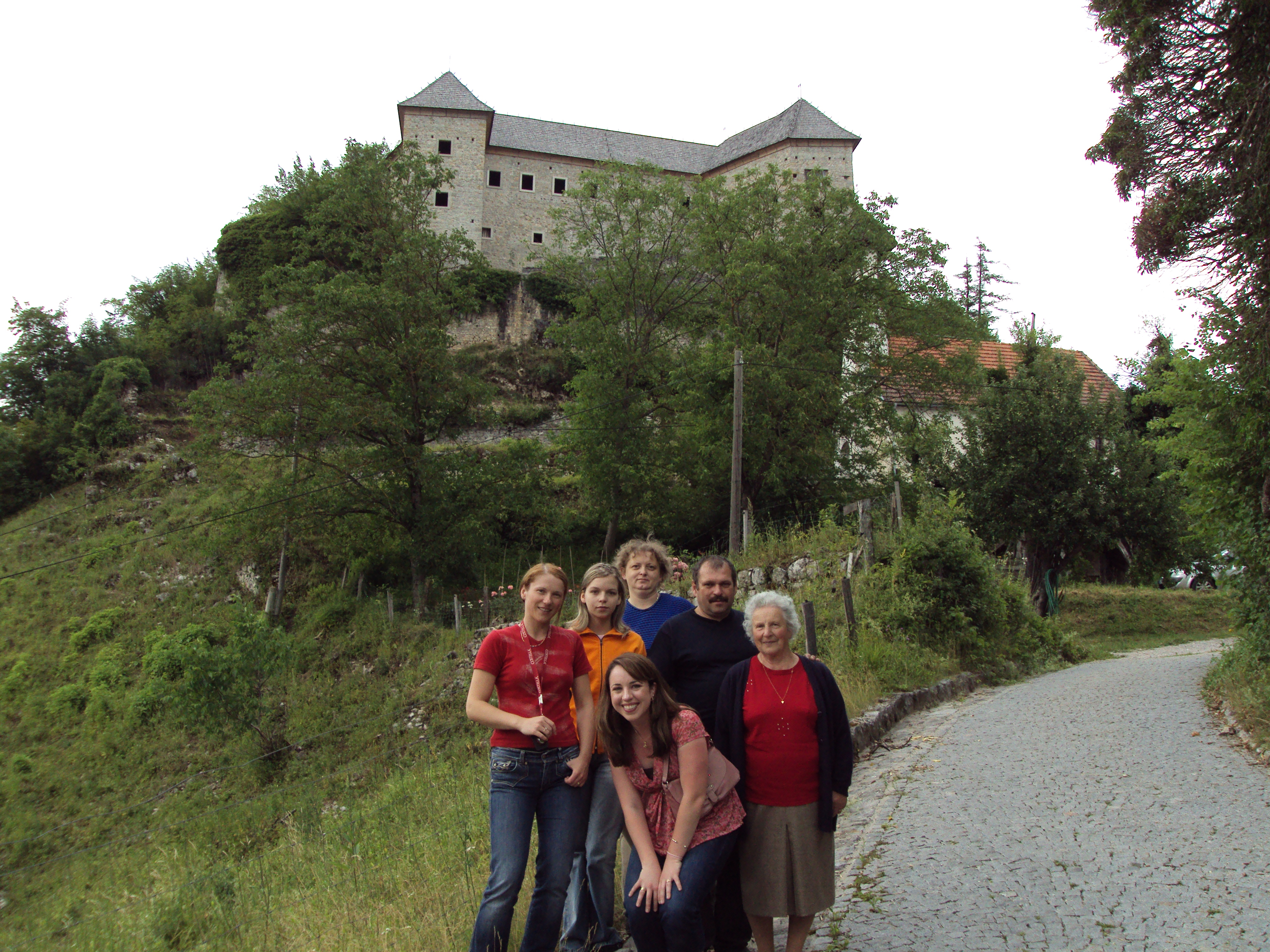 With family at the castle in the Kostel region of Slovenija last weekend.