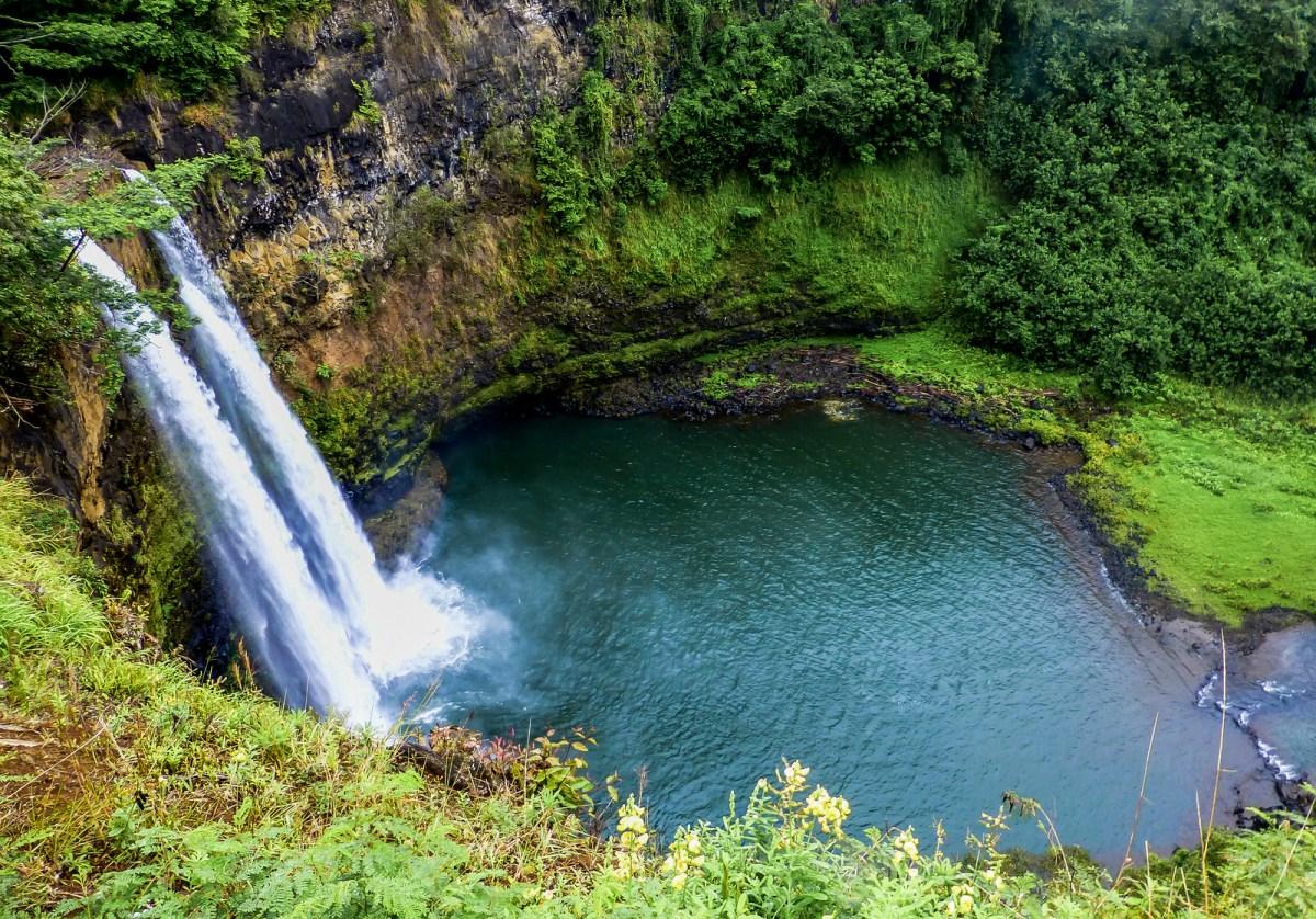 3 week Hawaii itinerary. Opeaka Waterfall, Kauai