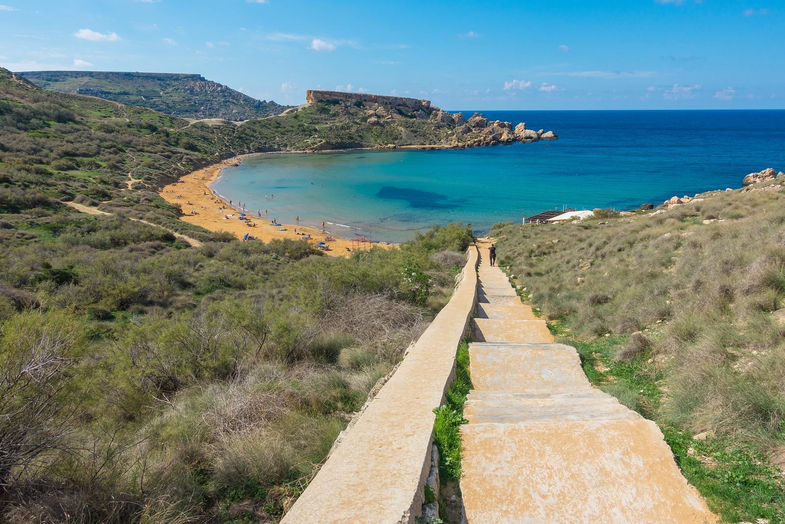 Malta Pictures - Għajn Tuffieħa Bay hidden beach
