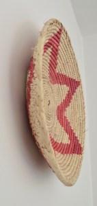 african vintage basket boho bohemian pink