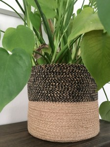basket boho planter