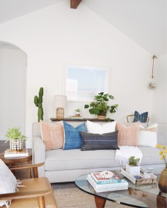 pillows styled living room
