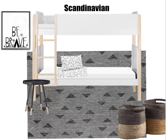 Scandinavian Inspired Boys Bedroom