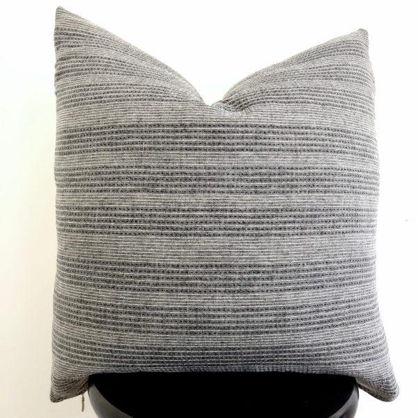 grey stripe vintage pillow