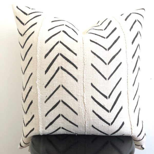 arrow mudcloth pillow