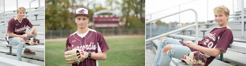 3 pictures of a high school baseball player