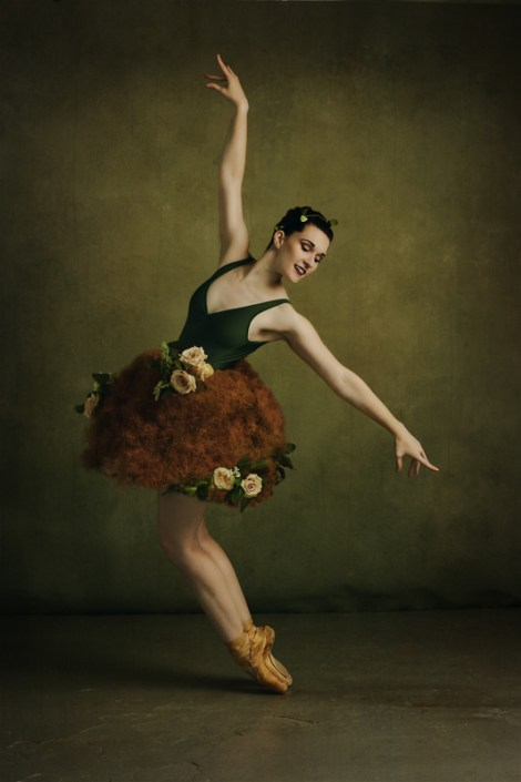 Ballet dancer in floral tutu