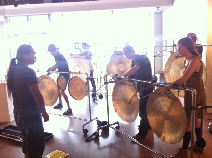 Nakatani Gong Orchestra workshop at Metro Galleries